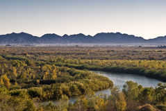 California-Arizona border at Yuma Royalty Free Stock Images
