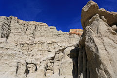 California Badlands. Sandstone formations in the California Badlands Stock Images