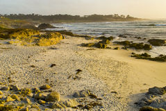California beach. A view along the California coast near Monterey, CA on a warm summer afternoon stock photo