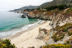 California beach along Pacific coast highway Stock Photo