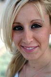 California beach blonde. Closeup headshot of a pretty California blonde Royalty Free Stock Photos