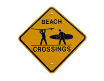 California Beach Crossing Stock Image