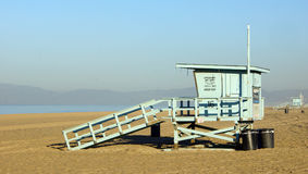 California Beach Lifeguard Stand. Lifeguard stand on an empty beach in southern California royalty free stock photography
