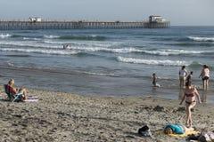 California beach scene Stock Images