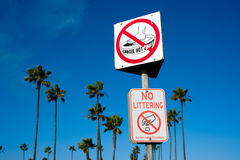 California beach signs Stock Images