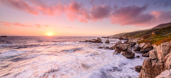 California beach sunset royalty free stock image