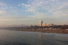 California beach. View from Santa monica Pier Royalty Free Stock Photo