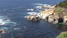 California Big Sur Coast Zoom In stock footage