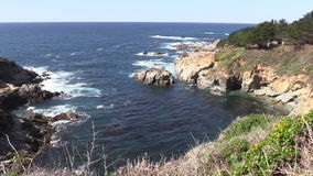 California Big Sur Coastline stock footage