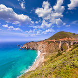 California Bixby bridge in Big Sur Monterey County in Route 1 Stock Image