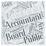 About the California Board of Accountancy word cloud concept Stock Photography