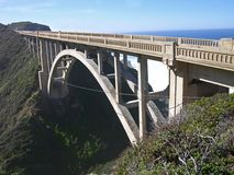 California Bridge. Bridge on Highway 1, south of Carmel, California stock images
