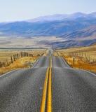 California, camino y fencings Imagen de archivo libre de regalías