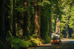 California Camper Journey Royalty Free Stock Image