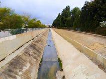 California Canal Drought Stock Photo