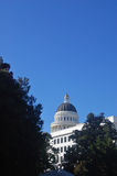 California Capitol Building. Framed by some trees Stock Photo