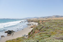 California Cetral Coast. Central Coast is an area of California, United States, roughly spanning the area between the Monterey Bay and Point Conception Stock Photography