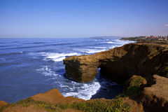California Cliff Shoreline Royalty Free Stock Images