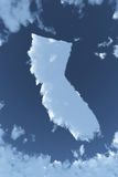 California in Clouds. The shape of the state of California in clouds Stock Photo