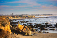 California coast. View of bay near Pescadero California showing rocky shore Stock Photo