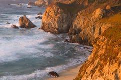 California Coast. Cliff at Sunset Royalty Free Stock Image
