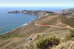 California coast. (highway 1) in Marin county Stock Photos