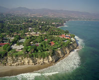 California Coast. Line near Malibu in September 1998 from helicopter Stock Image