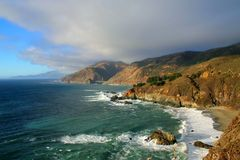 California coast. With cloudy sky Royalty Free Stock Images