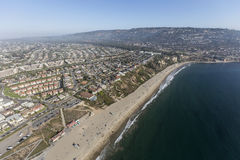 California Coast Aerial Torrance Beach and Rancho Palos Verdes. Aerial view of Torrance Beach and Rancho Palos Verdes in Los Angeles County, California Royalty Free Stock Photo
