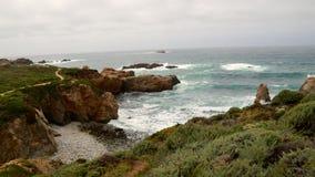 California Coast. Line along Pacific Coast Highway Royalty Free Stock Photo