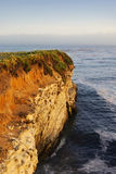 California Coast Cliff at Sunset Royalty Free Stock Images
