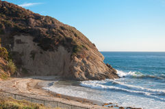 California Coast with Cliffs. Sunset on the Cliffs and the Beach in California royalty free stock photography