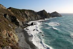 California Coast. Line along Pacific Coast Highway, looking South Stock Photos