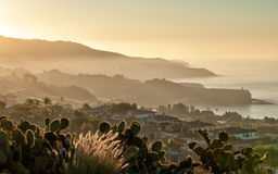 California coast at dawn royalty free stock images