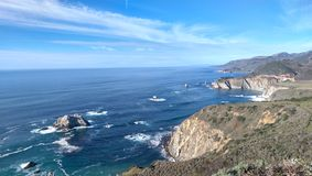 California Coast. Fantastic views of the sea from the cliff top Royalty Free Stock Photos