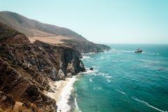 California coast Near Bixby Bridge Stock Photo