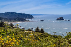 California Coast north of Klamath Stock Photo