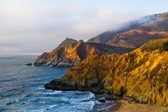 California coast at sunset Stock Image