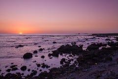 California Coast Sunset Royalty Free Stock Photography