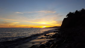 California Coast. Sunset at the golden coast Stock Photo