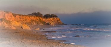 California Coast. At Sunset in Spring royalty free stock photo