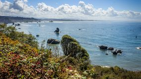 Trinidad coastal scene stock image
