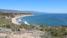 California coast stock video footage