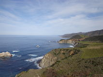 California Coast. View along Highway 1 coast in central California Stock Image