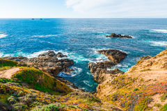 California coastal route 1. Scenic ocean view drive Royalty Free Stock Images