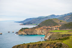 California coastal route 1. Scenic ocean view drive Stock Photos
