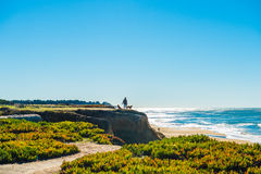 California coastal route 1. Scenic ocean view drive Royalty Free Stock Photos