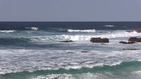 California Coastal Waves stock video