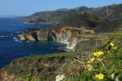 California Coastline. By Big Sur Royalty Free Stock Photography