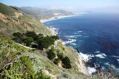 California Coastline. Pacific ocean coastline landscape along Highway 1, California, USA Royalty Free Stock Image